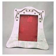 French Picture Frame w/ Mother of Pearl & Jewels
