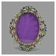 Art Deco Jeweled Mini Picture Frame