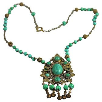 Czech Art Deco Necklace