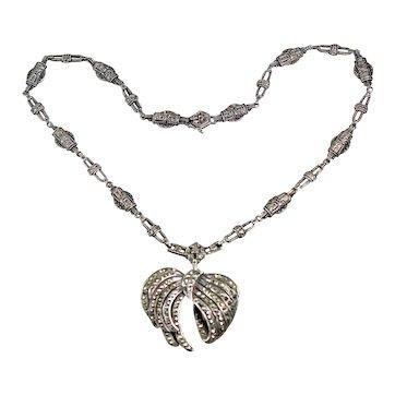 Art Deco Marcasite Choker Necklace