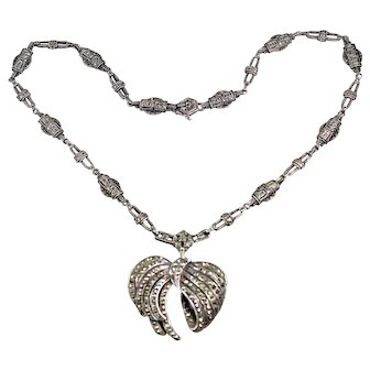 Art Deco Marcasite Choker Necklace