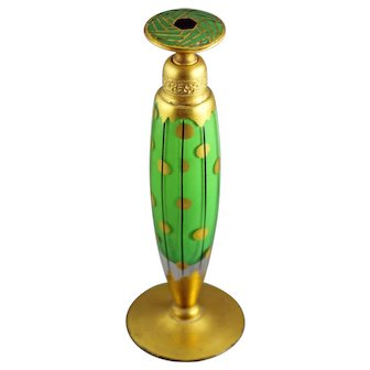 1926 DeVilbiss Art Deco Cigar Shaped Dropper Top Perfume Bottle