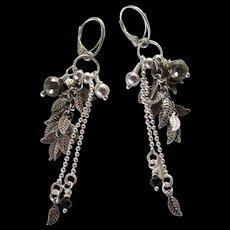 Drop Earrings ~ CHARMED ~ Pyrite, Sterling Silver, Swarovski