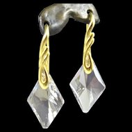 Drop Earrings ~ CRYSTAL MENACE ~ Swarovski & Sterling