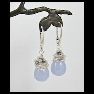 Earrings ~ GO-LIGHTLY ~ Coiled Holly Chalcedony