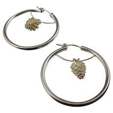 Hoop Earrings ~ SILVER PINES ~ Sterling Silver