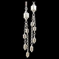 Dangle Earrings ~ SWING SET ~ Fine Silver, Sterling Silver