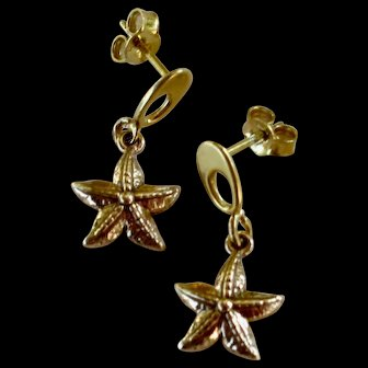 Drop Earrings ~ From the Mermaid Parade Collection ~ Vermeil & Bronze