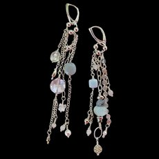 """Earrings ~ WHISPERS ~ Asymmetric Shoulder Dusters from the """"Chandelier Collection"""""""
