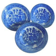 """PRETTY Vintage Blue Willow 4"""" Dessert Plate Replacement pieces for Child's Play Set"""