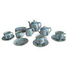 SWEET Complete Vintage Nippon Child's or Dolly's Tea Set