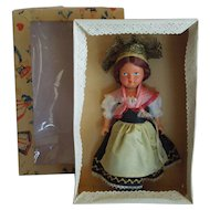 PRETTY 1950's Gura Made in Germany Celluloid Regional Doll Konstanz