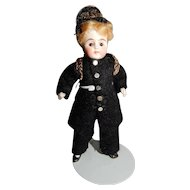 """4"""" Kling Glass Eyes Soldier All Bisque Doll"""