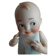 "CUTE 5.5"" German All Bisque Baby Bud c. 1915"