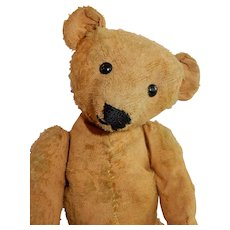 SWEET Very Well Loved Old Teddy Bear c. 1920's Possibly Earlier