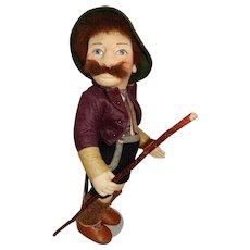 "WONDERFUL 17"" Early R John Wright Peasant Karl"