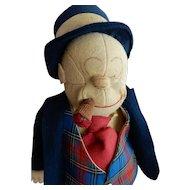 1930's Jiggs Cloth Comic Character Doll