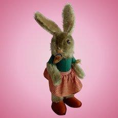 Vintage 1950's US Zone Germany Steiff Nikili Girl Bunny with Basket