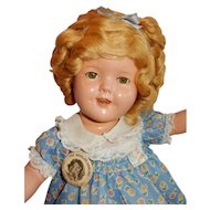 """ADORABLE 1930's Compo 15"""" Shirley Temple Doll by Ideal"""