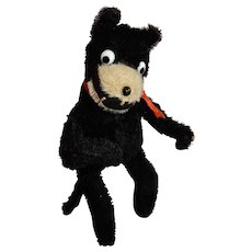 """AWESOME 10"""" Farnell Mohair Felix the Cat c. 1920's"""