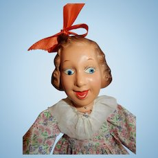 CHARMING 1938 Composition Fannie Brice as Baby Snooks Flexy Doll by Ideal
