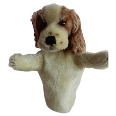 Adorable Steiff Vintage Spaniel Dog Hand Puppet