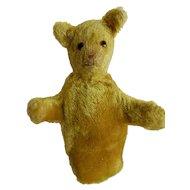 SWEET early Teddy Bear Glove Puppet c. 1920's-30's