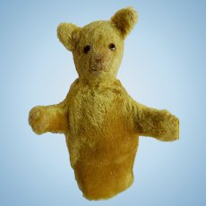 SWEET early Teddy Bear Glove Puppet c. 1920's-30's