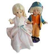 "DELIGHTFUL 9"" Patsyettes as George and Martha Washington"