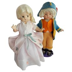 "DELIGHTFUL 9"" Patsyettes as George and Martha Washington"