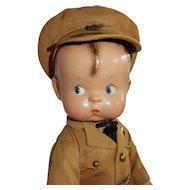 "OUTSTANDING 14"" Vintage Effanbee Skippy in Uniform."