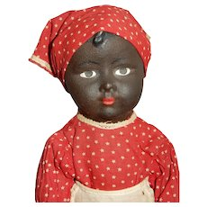 SPECIAL and So Rare Early Bisque Effanbee Aunt Dinah Doll c.1912-1915