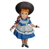 """SWEET 14"""" Arranbee Nancy Lee in Desirable Alphabet Dress"""