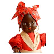 """CHARMING 1940's American Composition Doll """"Mammy"""""""