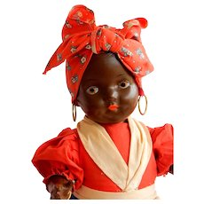 "CHARMING 1940's American Composition Doll ""Mammy"""