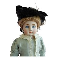"""RARE 18"""" Gebruder Kuhnlenz Turned Shoulder Head Closed Mouth Lady Doll"""