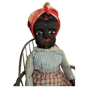 """SO RARE 21"""" Black Beecher Doll"""