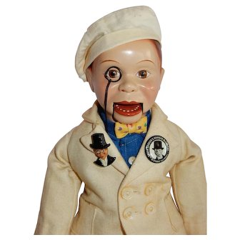 """AWESOME 15"""" Composition Charlie McCarthy"""