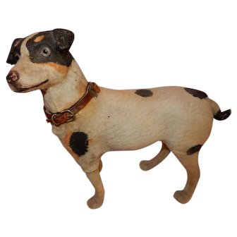 OUTSTANDING Antique Jack Russell Terrier Musical Candy Container