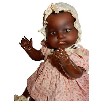 """SWEET and Charming 16"""" Armand Marseille Black Baby Doll"""