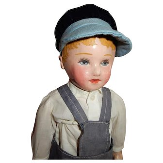 """OUTSTANDING 16"""" Stockinet Martha Chase Boy Doll"""
