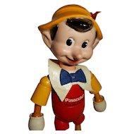 "CUTE 8"" Wood/Compo Ideal Walt Disney Pinocchio"