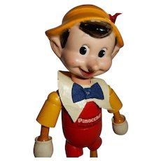 "CUTE 8"" Wood/Compo Ideal Walt Disney Pinocchio"