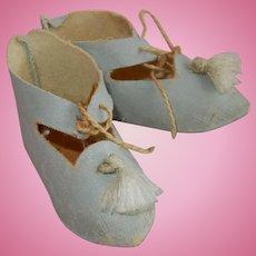 BEAUTIFUL Size 9 Classic Jumeau Oil Cloth Bee Mark Doll Shoes