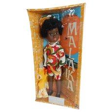 RARE and Adorable Shindana 1969 MIB Malaika Doll