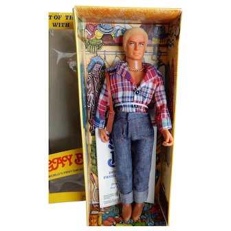 RARE 1977 Never removed from Box Gay Bob Doll in Box designed as a Closet