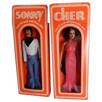 Classic 1970's Mego Sonny and Cher Doll