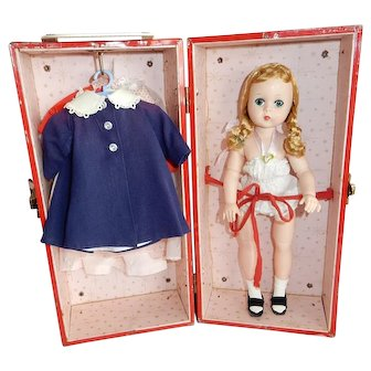 SWEET 1950's Madame Alexander Lissy Doll in Trunk with Clothing