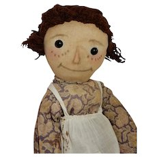 ADORABLE Early Volland Raggedy Ann Doll c. 1918