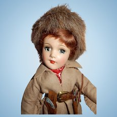 RARE and Incredible Mint Vintage Mary Hoyer Davy Crockett Doll